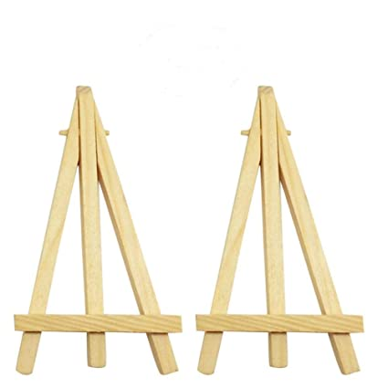 10Pcs//Set Mini Wooden Easel Table Picture Card Holder Display Small Stand