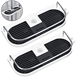 Hawsam 2Packs No Drilling Shower Shelf Caddy for Shower Rail – Bathroom Rack Organizer Holder for Shampoo, Fit 19mm – 25mm Rail