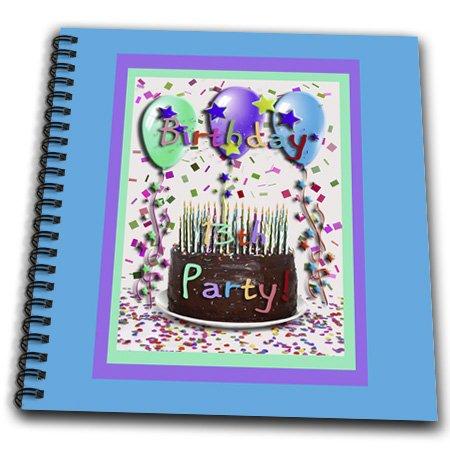 db_20838_1 Beverly Turner Birthday Invitation Design - 13th Birthday Party Invitation Chocolate Cake - Drawing Book - Drawing Book 8 x 8 inch