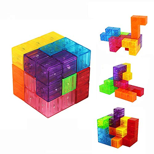(Magnetic Magic Cube Building Blocks Magnetic Tiles for Kids Educational)