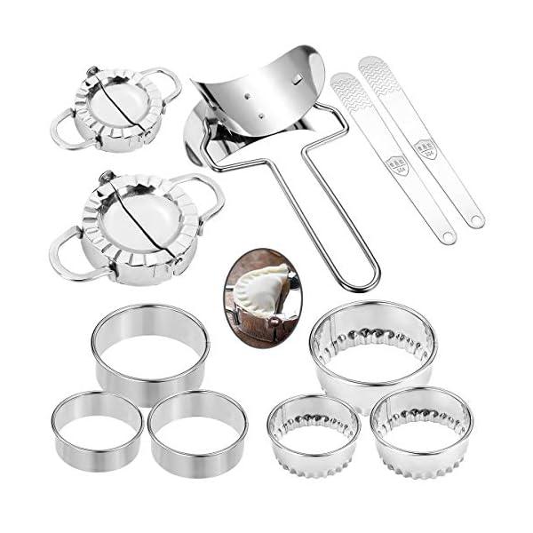 11 pezzi Macchina per gnocchi, set di stampi per gnocchi portatile in acciaio inossidabile Manuale pizzico Ravioli