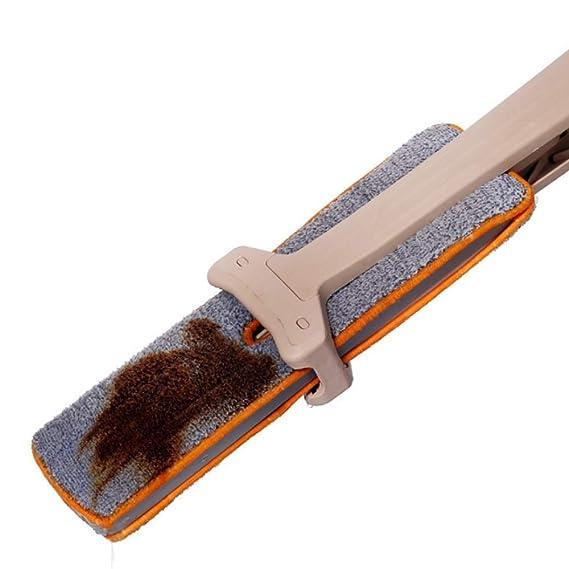 blingmia escobillas serpillères 4 pcs toallitas - 360 ° fregona Doble Cara escobilla para Uso en húmedo/seco Limpiar en Profundidad Todos los Esquinas de ...