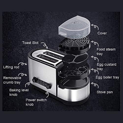 Multifonctionnel Machine à pain, grille-pain électrique Sandwich Four viande rôti Grill frit Steak Egg Omelette Frying Pan Food Steamer œufs Braconnier Chaudière AQUILA1125