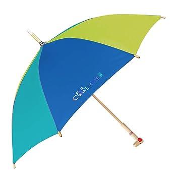 Paraguas para Niños y Niñas con Mango de Madera en Forma de Oso y Perro -