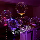 20inch Luminous Led Balloon Transparent Round Bubble Decoration Party Wedding (50)