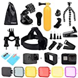PANNOVO Accessories Kit for Gopro Hero 5 Black Camera(26-in-1)