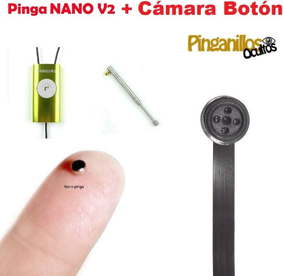 C/ámara Bot/ón Esp/ía WiFi Negro Pinga Nano V2