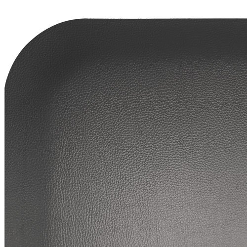 Elite Step 1/2'' Premium Faux-Leather Grained Anti-Fatigue Mat, 3' x 5', Solid Black by Portico Systems (Image #1)