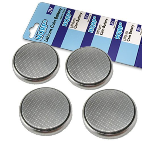 HQRP 4-Pack CR2032 Coin Lithium Battery for Sony ICF-C705 ICF-C05iP ICF-CD3iP ICF-C7iP ICF-C218 ICF-C414 FM/AM Clock Radio + Coaster