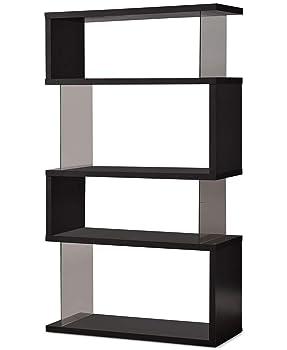Asymmetrical Snaking Bookshelf