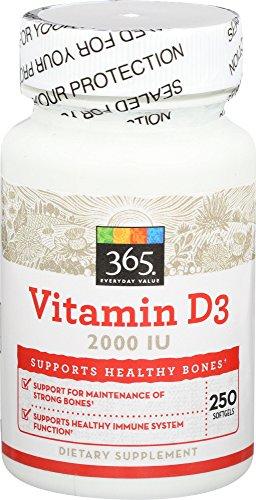 365 Everyday Value, Vitamin D3 2000 IU, 250 ct
