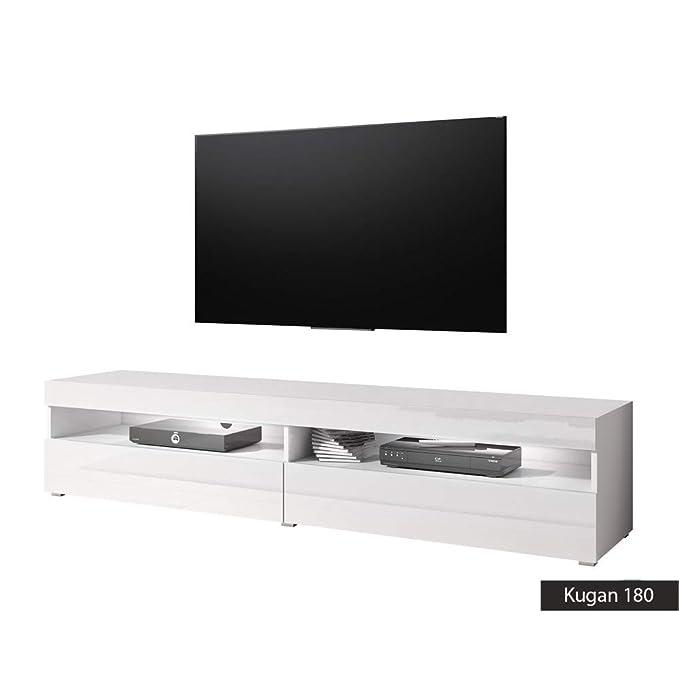 Mobili Porta Tv Lc.Mobiletto Porta Tv Kugan 180 Cm 180x36 5x39 5 Bianco Opaco Bianco