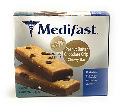 Medifast Peanut Butter Chocolate Chip Chewy Bar  1 Box 7 Servings