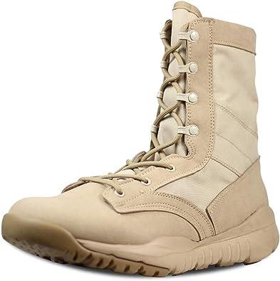 LUDEY Hombre Botas Militares Botas de Combate Ultraligeras y ...