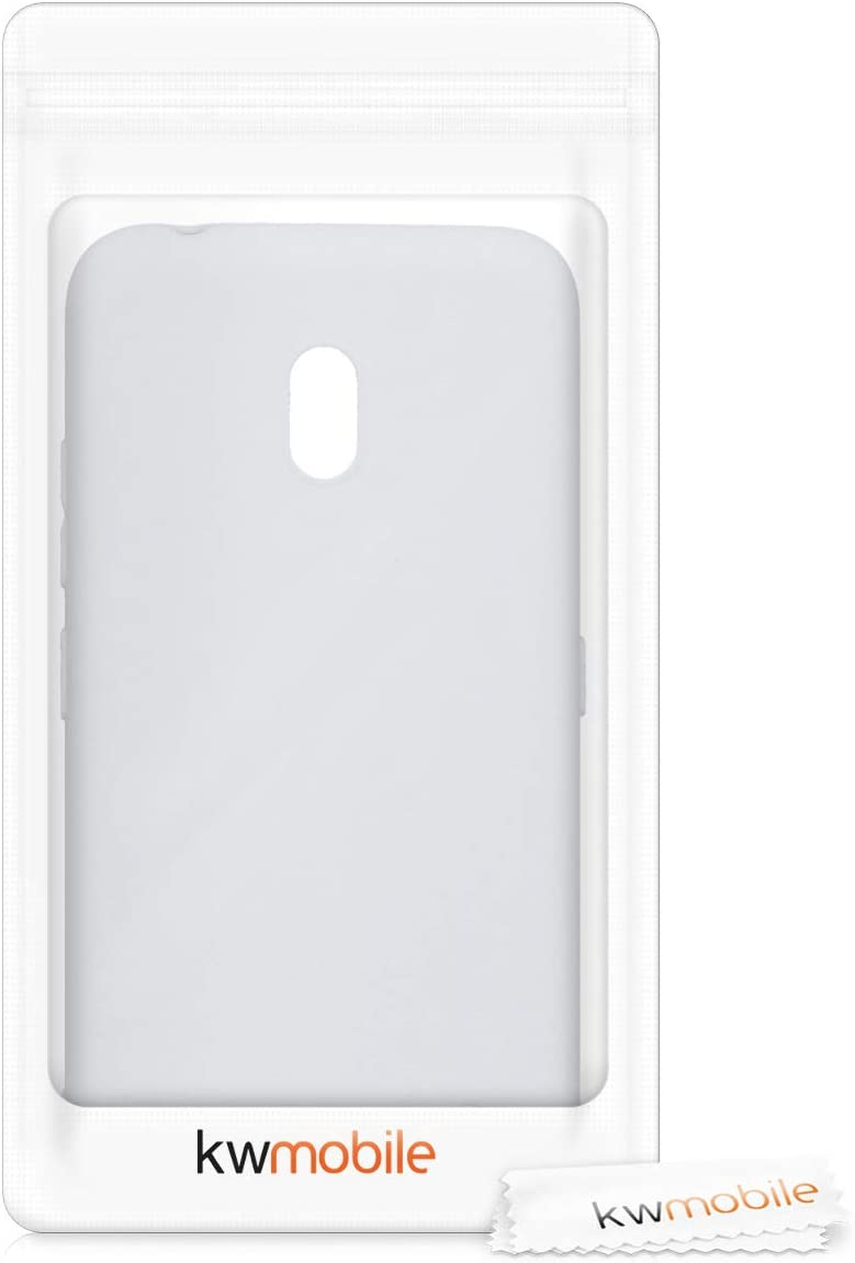 Carcasa m/óvil de Silicona Flexible Protector Trasero en Azul Metalizado kwmobile Funda para Nokia 2.2