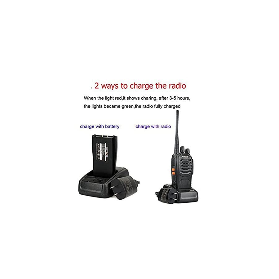 Retevis H 777 2 Way Radios UHF Two Way Radios 400 470MHz 16CH Walkie Talkies with Belt Clip (20 Pack) and USB Programming Cable
