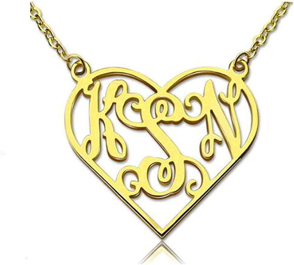 set adil Personalized Heart Name Customized Necklace Best Friends Necklace Fashion Gift