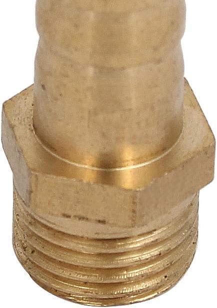 sourcing map Conector De Enchufe Adaptador Rosca Macho 1//4 BSP Manguera De 10mm Tubo Adaptador 4Pcs