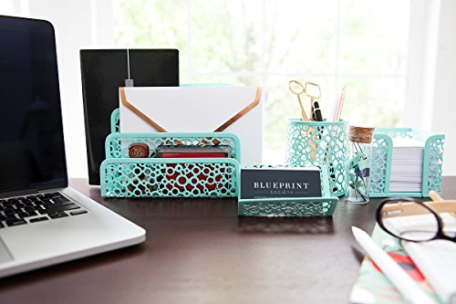 Blu Monaco Office Supplies Mint Green Desk Organizers And