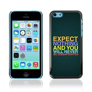 CQ Tech Phone Accessory: Carcasa Trasera Rigida Aluminio para Apple iPhone 5C - Interesting Message Quote