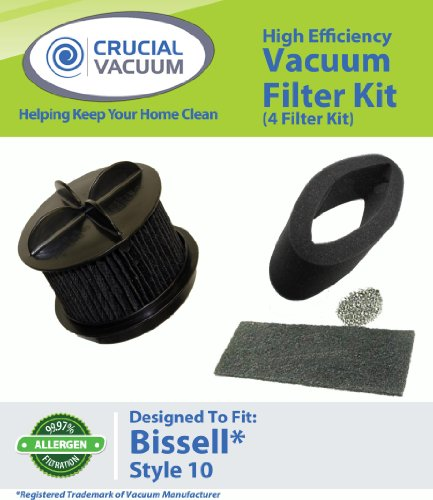 Bissell Style 10 Filter Kit; Compare to Part # 2032117; by Crucial Vacuum, Appliances for Home