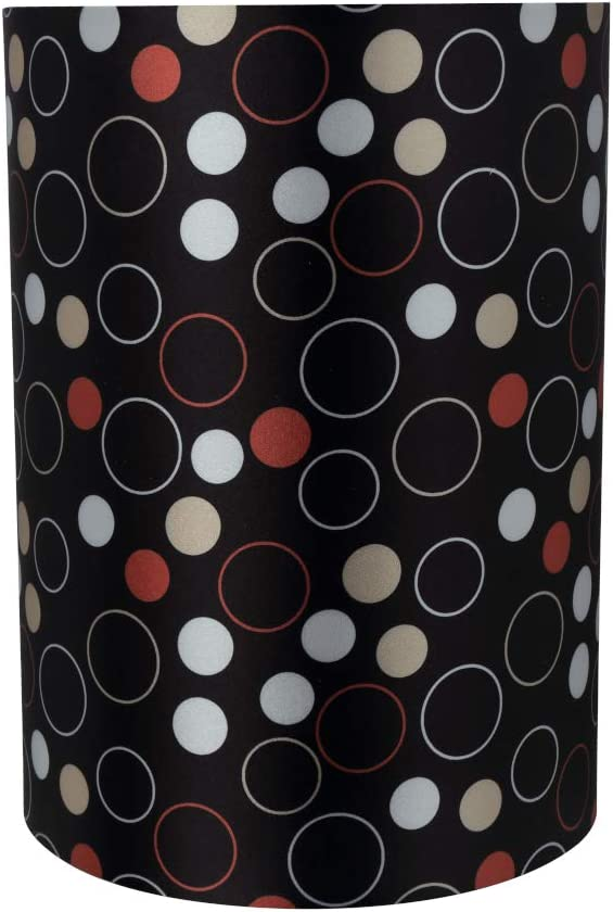 Aspen Creative 31272 Transitional Drum Cylinder Shape Construction Black, 8 Wide 8 x 8 x 11 Spider LAMP Shade