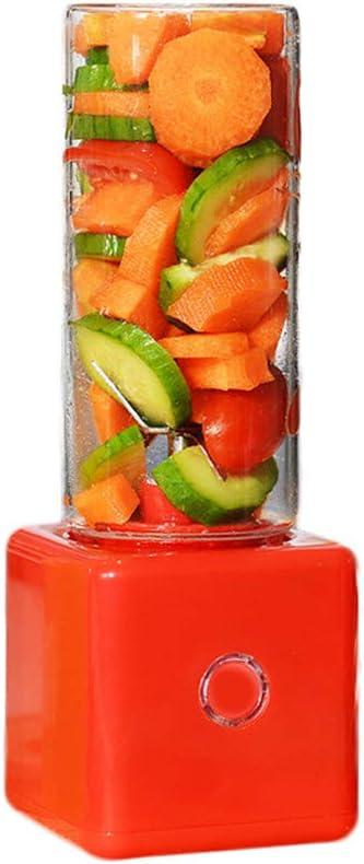 IHMIZ USB Eléctrico La Seguridad Taza de Fruta Mini Portátil Recargable Mezcla de Jugos Licuadora de Hielo Picado 320 ml Botella de Agua,Red: Amazon.es: Deportes y aire libre