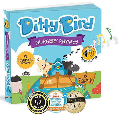 Tablero De Regalo Nuevo Incy Wincy Spider y otros Nursery Rhymes Sonido Libro Edades 6 mes