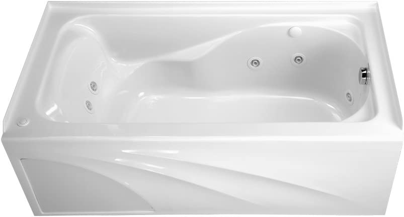 American Standard 2776118W.020 Cadet 5-Feet by 32-Inch Whirlpool with Hydro Massage System-I and Integral Apron, White