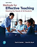 Methods for Effective Teaching: Meeting the Needs of All Students, with Enhanced Pearson eText -- Access Card Package (8th Edition) (What's New in Curriculum & Instruction)