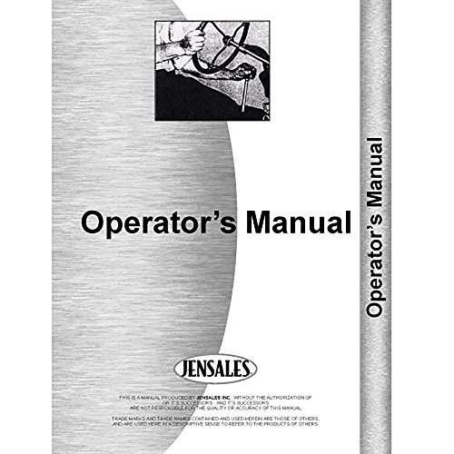 New Hesston Pull Type Tractor Mower Conditioner Tractor Operator Manual