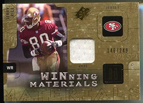Jerry Rice #146/249 (Football Card) 2009 SPx Winning Materials Gold ()