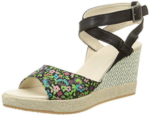 Damensandalen Noir C48 Walnuss Black Multi Druck Flower Palladium qREPSE