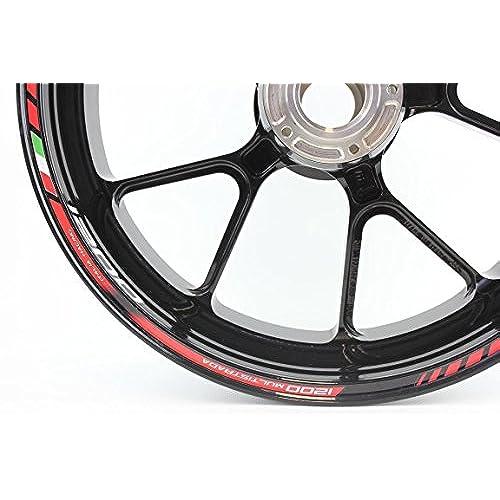 Liserets de jantes SpecialGP Moto Ducati Multistrada 1200 Rouge Autocollants