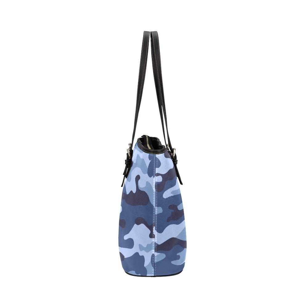 Camouflage Protective Military Cool Style Large Soft Leather Portable Top Handle Hand Totes Bags Causal Handbags With Zipper Shoulder Shopping Purse Luggage Organizer For Lady Girls Womens Work