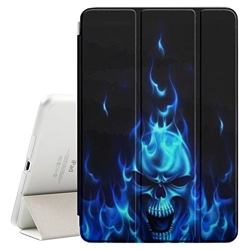 Gothic Pedestal - Graphic4You Laughing Skull Death Design Ultra Slim Case Smart Cover Stand [with Sleep / Wake Function] for Apple iPad 2017 (9.7