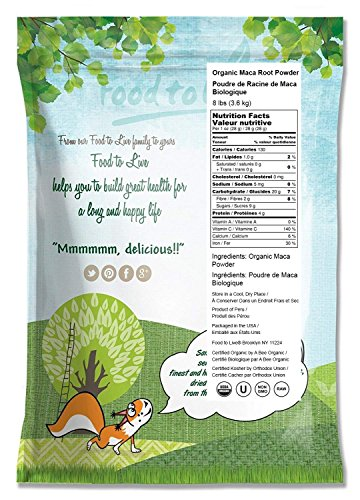 Food to Live Certified Organic Maca Root Powder (Non-GMO, Kosher, Raw Ground Maca Root, Flour, Bulk) (8 Pounds) by Food to Live (Image #1)