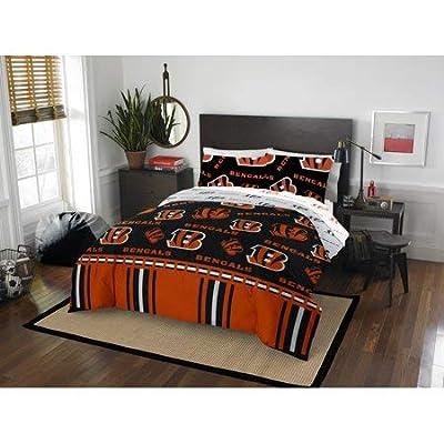 Official Cincinnati Bengals Bed in Bag Set Queen: Home & Kitchen