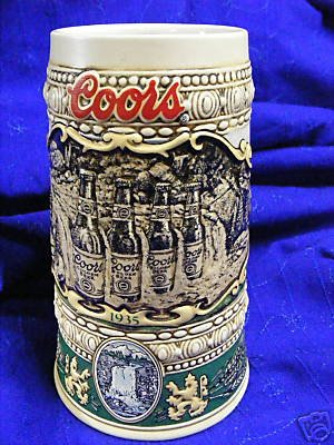 Coors 1990 Collector Beer Stein - 1935 Print Advertisement (Waterfall Coors)