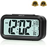 "ZHPUAT 4.6"" Digital Alarm Clock with Smart Controllable Backlight (Black)"