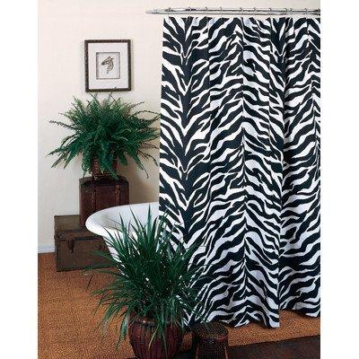 Black Zebra Shower Curtain