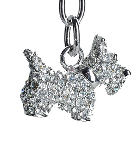 (Lilly Rocket Rhinestone Schnauzer Scotty Scottie Terrier Dog Bling Key Chain with Swarovski Crystals )