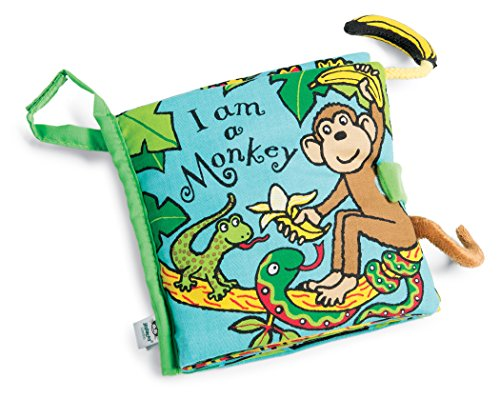 Cloths Monkey - Jellycat Soft Cloth Books, I am a Monkey