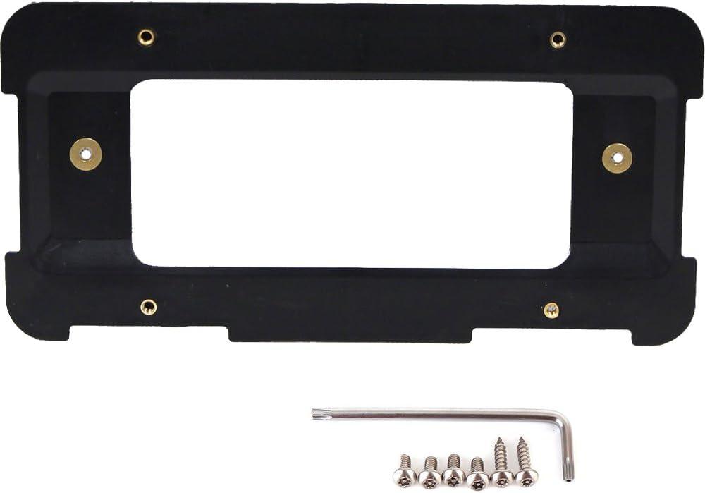 GTP Rear License Plate Base Mount Bracket for BMW 1/2/3/4/5/6 Series X1 X3 X4 X5 X6 Z4 & Mini Cooper 51187160607 & 511882380615 Tag Frame Holder + 6 Anti-Theft Screws & Wrench