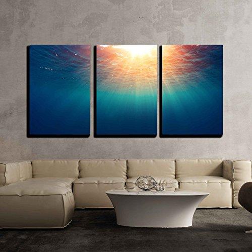 Sea with Sun x3 Panels