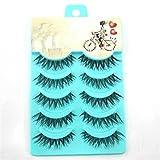 5 pairs Handmade false eyelashes popular messy natural paragraph eye lashes