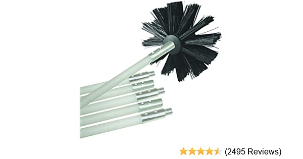 """Air Duct Cleaning Brush Adapter with set screws 4/"""" Long"""