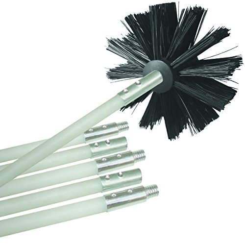 Deflecto Dryer Duct Cleaning Kit, Lint Remover, Extends Up To 12 Feet, Synthetic Brush Head, Use With or Without a Power Drill ()