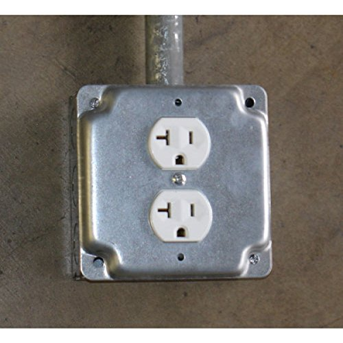 10 Pcs, Steel 4 Square, 1/2 In. Raised Duplex Receptacle Industrial Surface Cover by Garvin (Image #1)