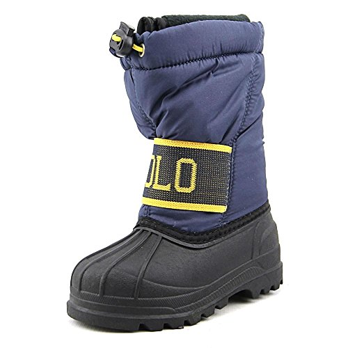 Polo Ralph Lauren Kids Jakson Winter Fashion Boot (Toddler/Little Kid/Big Kid), Navy/Yellow, 7 M US Toddler